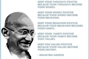 gandhi on staying postive