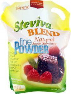 Steviva Blend FINE POWDER Sweetener - 5 lb bag