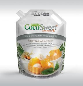 CocoSweet+ Plus - Coconut Palm Sugar and Stevia Sweetener - 5 Lb Bag