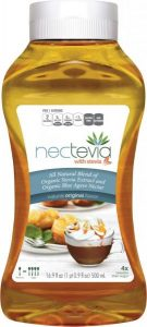 Nectevia stevia fortified agave nectar 16.9oz squeeze bottle Original Flavor